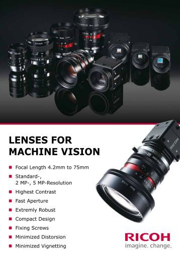 LENSES FOR MACHINE VISION - Security Systems