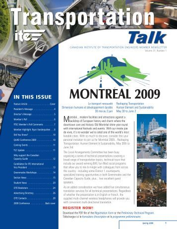 Spring 2009 - Canadian Institute of Transportation Engineers