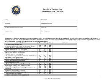 machine shop safety inspection checklist