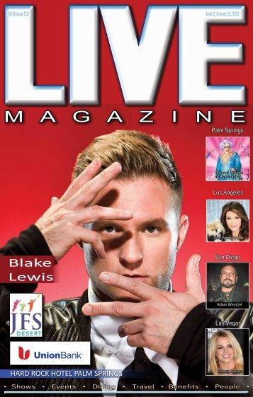 Live MAGAZINE VOL 8, Issue #210 June 2nd THRU June 16th, 2015