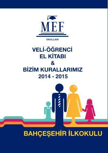 MEF İlkokulu Veli-Öğrenci El Kitapçığı'nı Okumak İçin ... - mef okulları