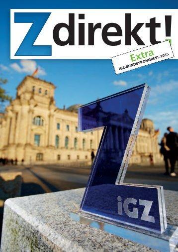 Z direkt! Extra zum iGZ-Bundeskongress