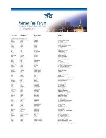 Onsite Final Delegate list - IATA
