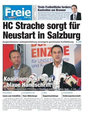 HC Strache sorgt für Neustart in Salzburg