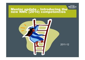 Mentor update - Introducing the new NMC (2010) competencies