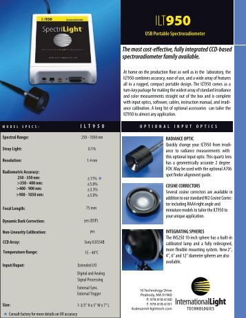 ILT950 Datasheet - International Light Technologies