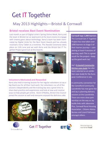 Get IT together May 2013 newsletter.