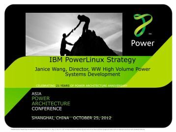 IBM PowerLinux Strategy - Power.org