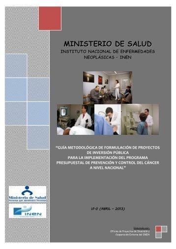 Guia Met Inen - V1 2013. - Instituto Nacional de Enfermedades ...