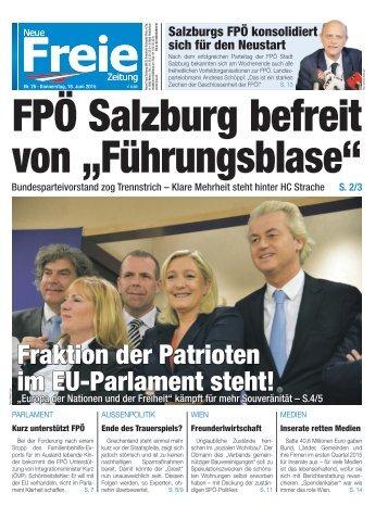 """FPÖ Salzburg befreit von """"Führungsblase"""""""