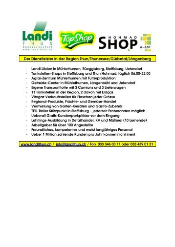 Landi Thun   Landi Center Steffisburg