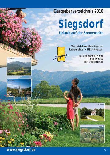Gastgeberverzeichnis 2010 Siegsdorf