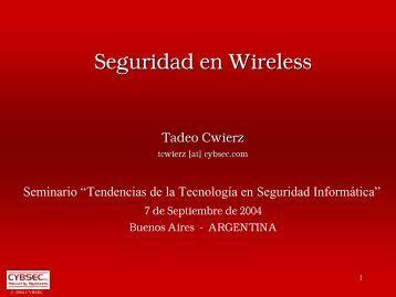 Seguridad en Wireless - Cybsec
