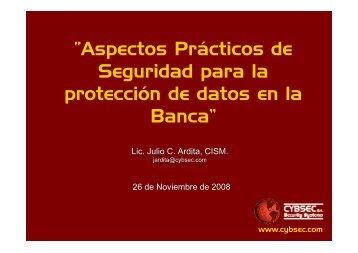"""""""Aspectos Prácticos de Seguridad para la protección de ... - Cybsec"""
