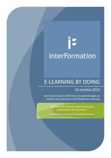 E-LEARNING BY DOING - REVAL Consulting