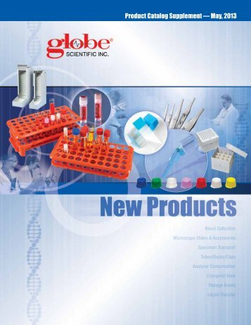 Product Catalog Supplement — May, 2013 - Globe Scientific
