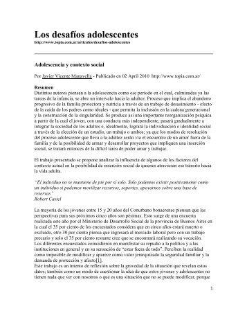 Los desafíos adolescentes - Comité Adolescencia ALAPE