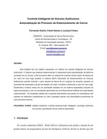 Controle Inteligente de Veículos Autônomos: Automatização do ...