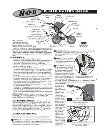 Bob Revolution Stroller Assembly Instructions
