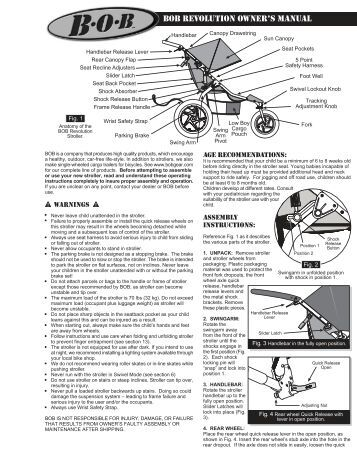 BOB Revolution Stroller Owner's manual PDF View/Download