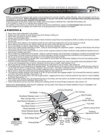 Bob Revolution Double Stroller Manual - WordPress.com