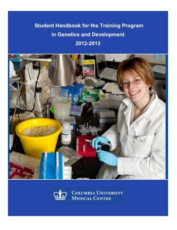 Student Handbook for the Training  Program in Genetics and ...