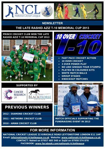 T-10 Newsletter - Essex Cricket