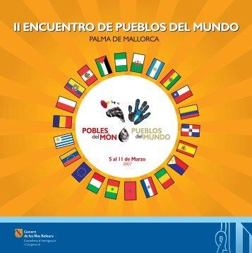 II ENCUENTRO DE PUEBLOS DEL MUNDO - Direcció General de ...