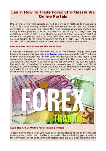 Learn how to trade forex online