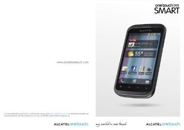 Table of Contents - Alcatel One Touch