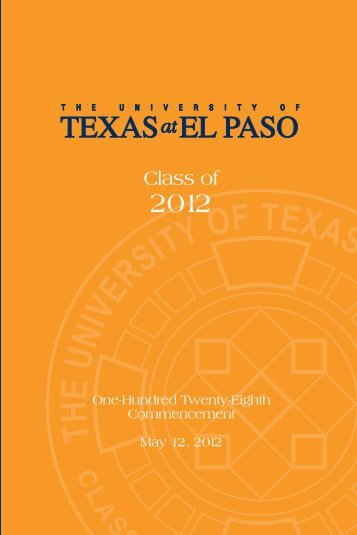 Class of - University of Texas at El Paso