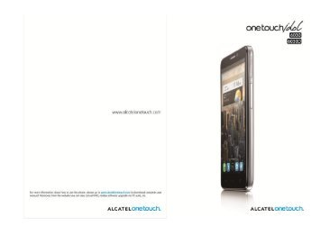 Alcatel One Touch Idol Manual - Cell Phones Etc.