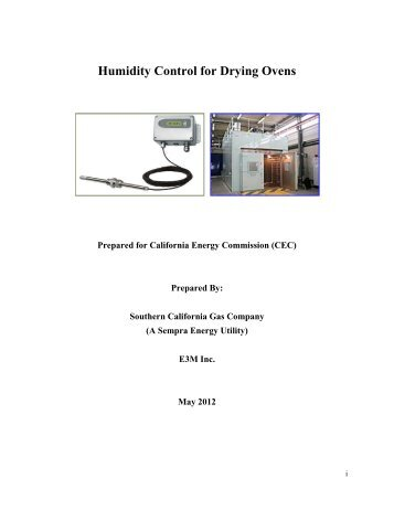 Humidity Control for Drying Ovens - Go Solar California