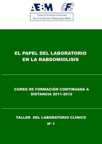 el papel del laboratorio en la rabdomiolisis - Asociación Española ...