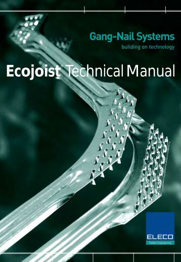 ecojoist technical manual - construction studies