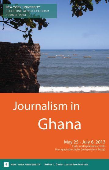 Journalism in - New York University
