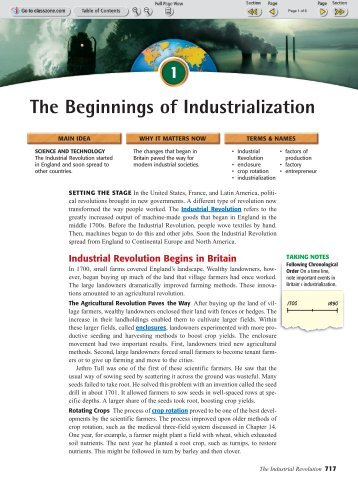 The Beginnings of Industrialization - Euro-webonline.com