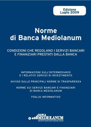 Norme di Banca Mediolanum