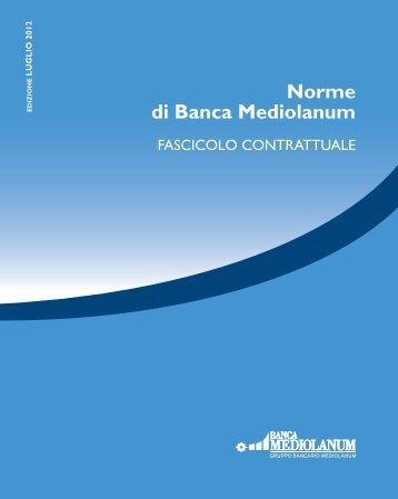 Fascicolo Contrattuale - Banca Mediolanum
