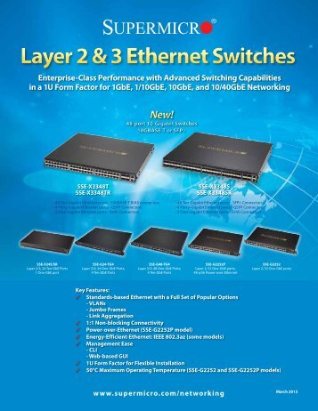 Layer 2 & 3 Ethernet Switches New! - Supermicro
