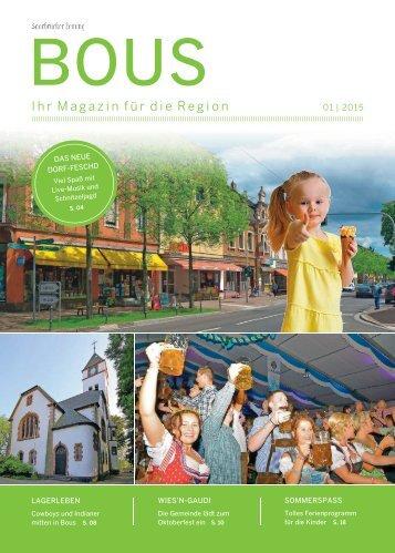 Gemeindemagazin Bous 01|2015