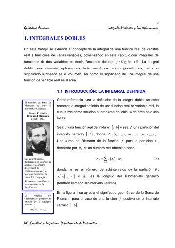 1. INTEGRALES DOBLES - Facultad de Ingeniería