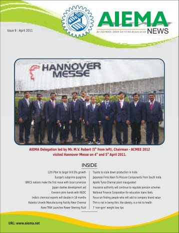 April 2011 - Ambattur Industrial Estate Manufacturers' Association
