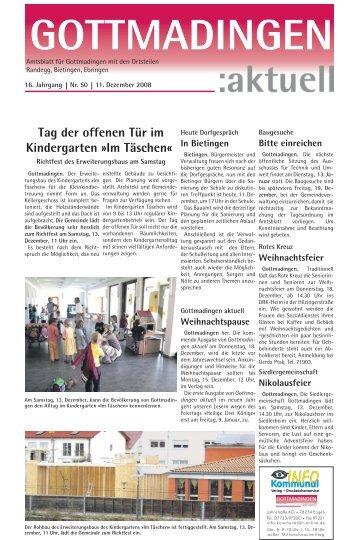Dienstag, 23.12.08 von 9 - 13 Uhr Samstag, 13. u ... - in Gottmadingen