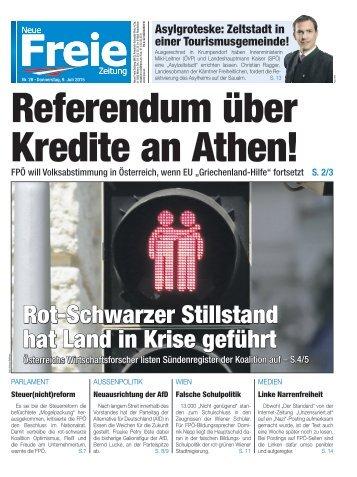 Referendum über Kredite an Athen!