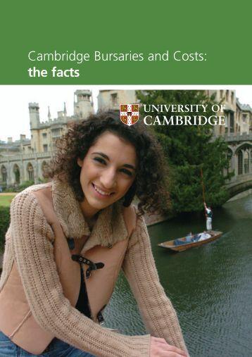 Cambridge Bursaries and Costs - Cambridge University Students ...