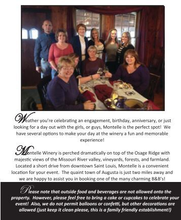 special events packet - Montelle Winery