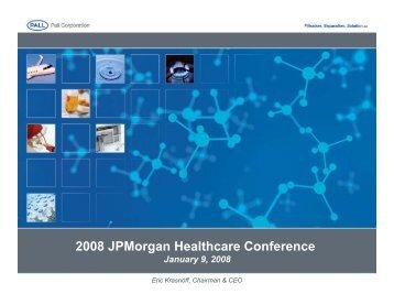 2008 JPMorgan Healthcare Conference - Pall Corporation (PLL)