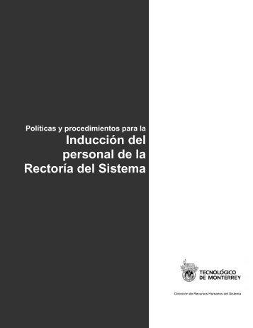 Inducción del personal de la Rectoría del Sistema - Tecnológico de ...