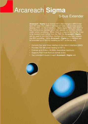 260 kB arcareach Sigma datasheet - Arca Technologies